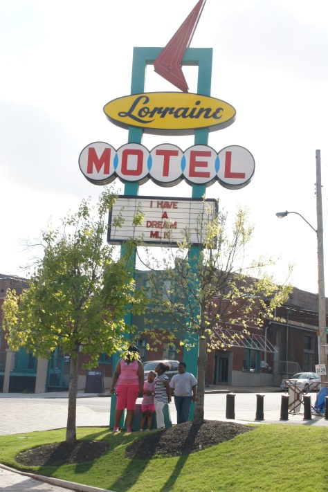 The Lorraine Motel, and the National Civil Rights Museum, Memphis.