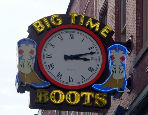 Boots and music on Broadway, Nashville