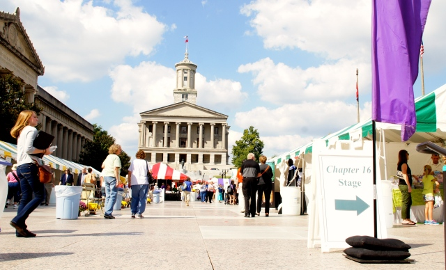 Southern Festival of Books on the Leglislative Plaza in Nashville, Tennessee