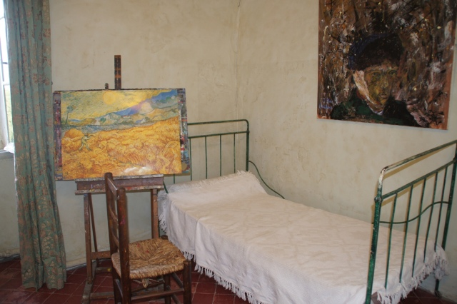 Van Gogh's room is reproduced at the asylum in St. Remy, France, where he lives and painted over 100 paintings.