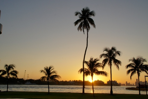 Dreaming of balmy weather and tropical sunsets in Miami Beach, Florida.