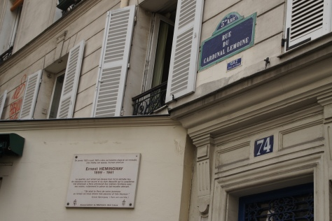 "The apartment where Hemingway and his ""Paris Wife,"" Hadley, were ""very poor and very happy."""
