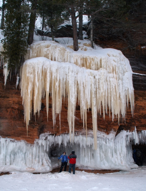 Sea caves in winter.  Apostle Islands National Lakeshore