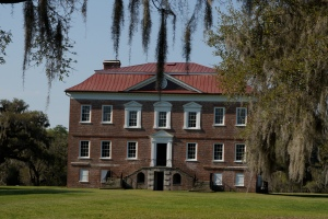 "Drayton Hall plantation stands by the Ashley River, just south of Charleston. It's my favorite area plantation because it has been left ""as is."""