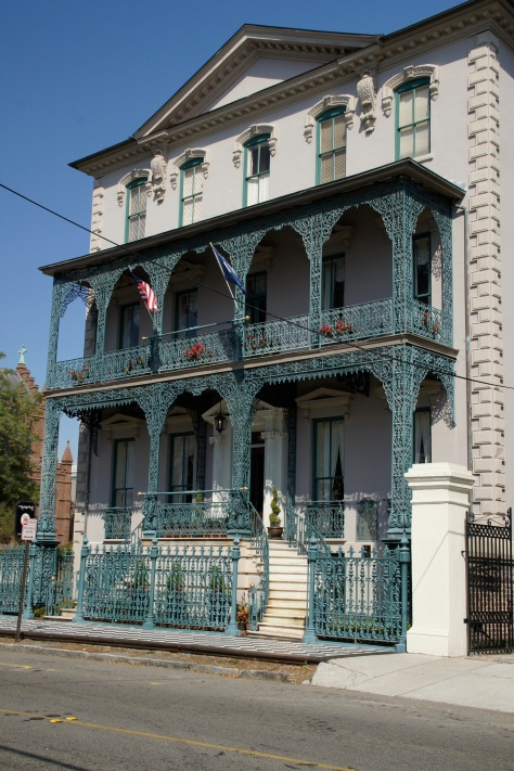 The John Rutledge House Inn on Broad Street features the fabulous iron work that was frequently the art of African Americans.