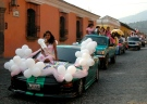 Graduation parade in Antigua, Guatemala