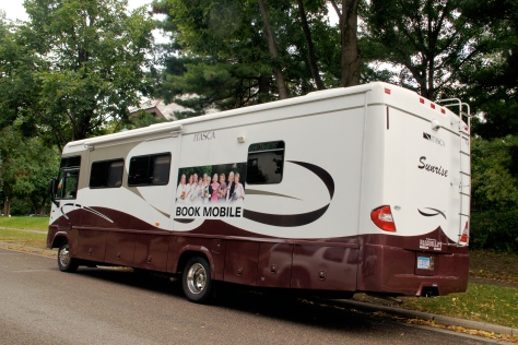 "Christened ""the bookmobile"" our RV was ready for a book club trip to Wisconsin."