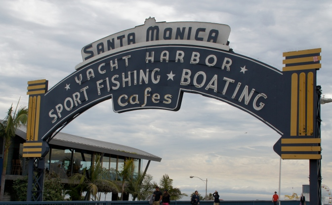 The iconic Santa Monica Pier was an important scene in the crime fiction of Raymond Chandler.
