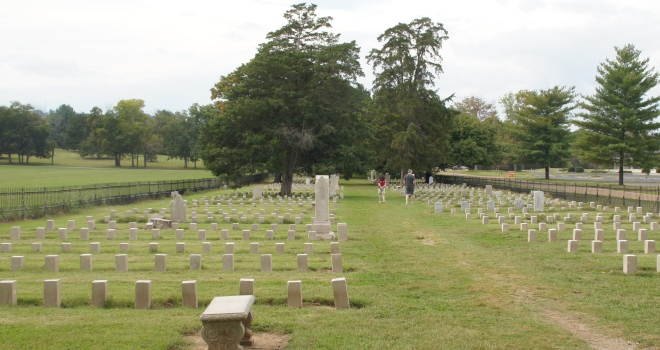 TheCemetery that Carrie McGavock created after the Civil War.