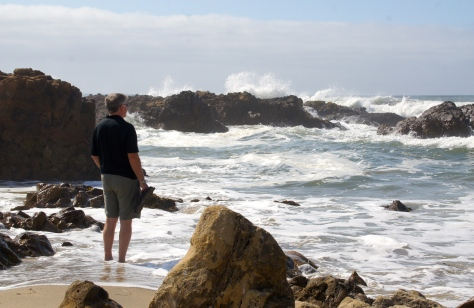 Get your feet wet at the many beaches along Highway One near Half Moon Bay, California.