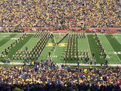 The University of Michigan Marching Band.
