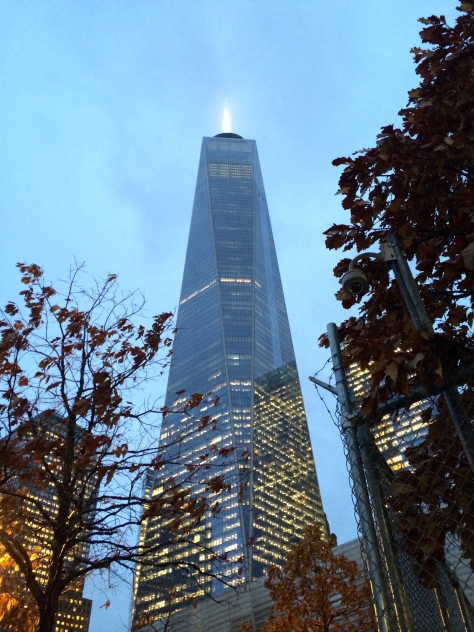 The new One World Trade Center rises over lower Manhattan.