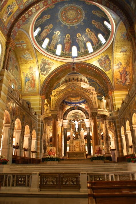 Interior of the St. Louis Cathedral Basilica in Missouri.