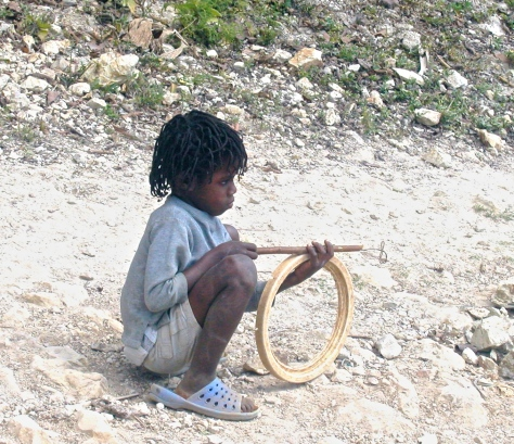 In Haiti, children make toys out of just about anything they can find.