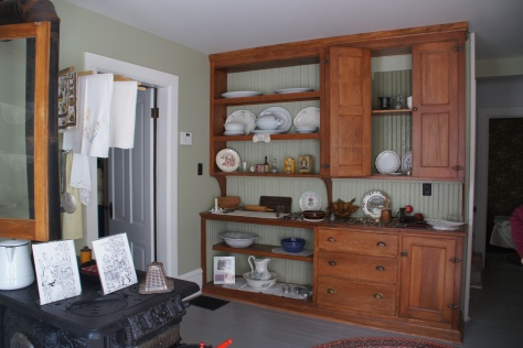 The old fashioned kitchen at Betsy's house offers a view of life in the early 1900s.