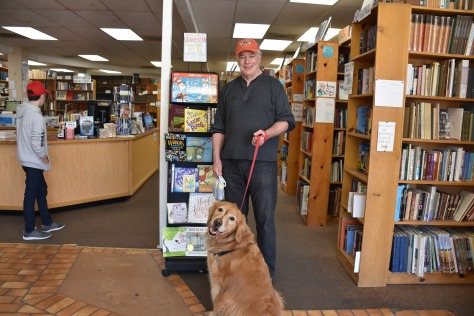 golden retriever at COAS books in Las Cruces www.offthebeatenpagetravel.com