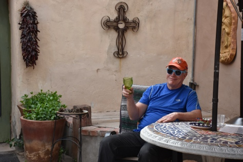 man sipping wine at NM Vintage www.offthebeatenpagetravel.com