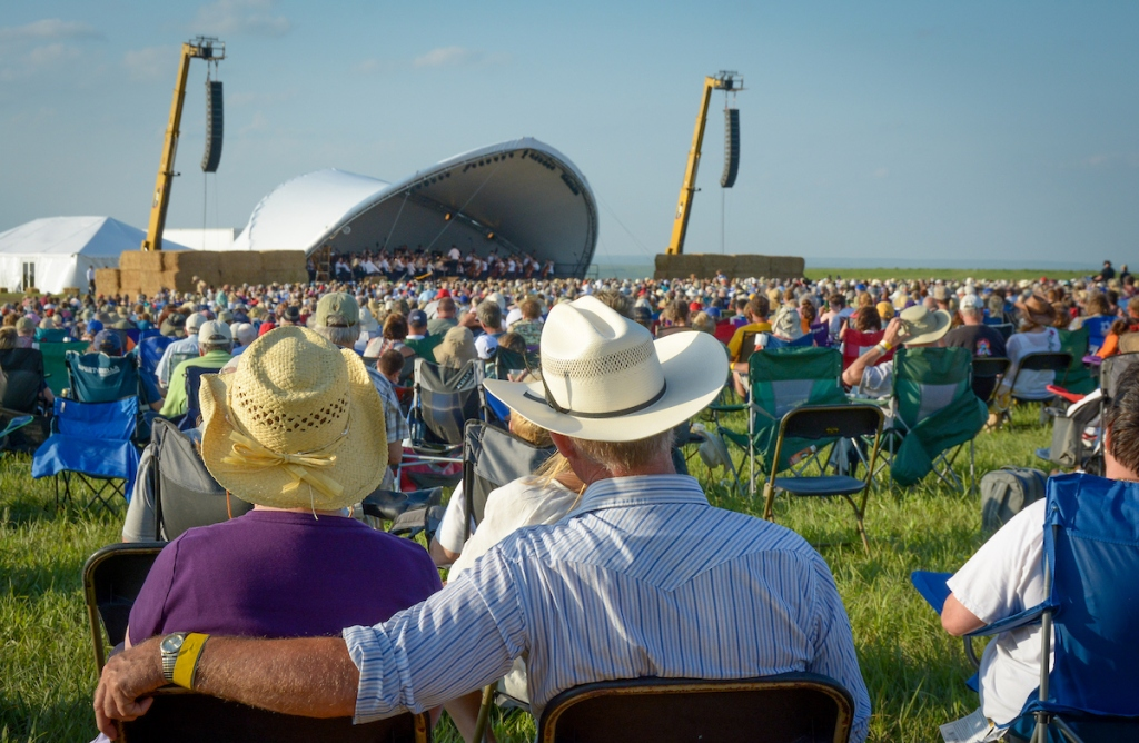 the audience at Symphony in the Flint Hills,