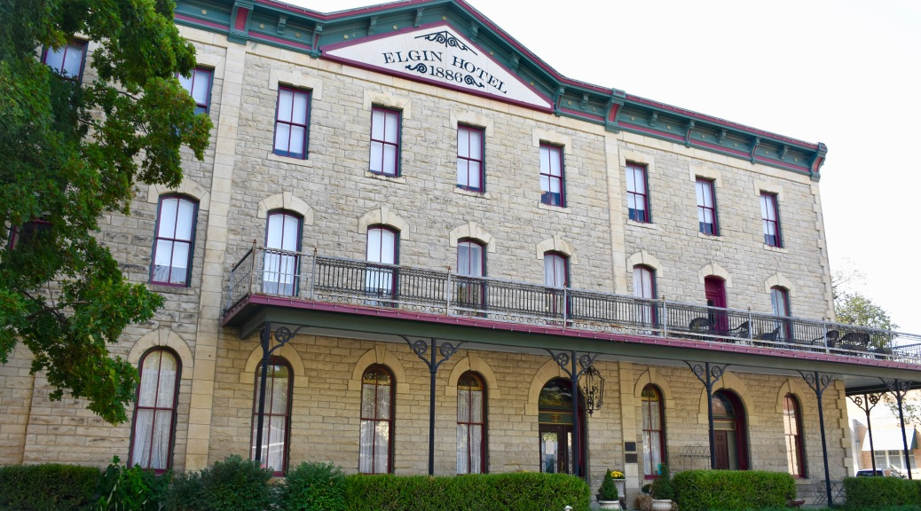 exterior of Elgin Hotel in Marion Kansas,